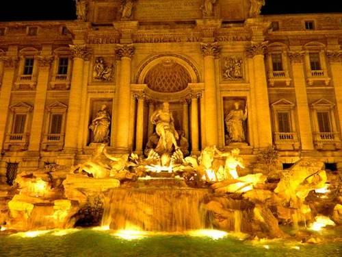 Cùng chiêm ngưỡng tượng đài phun nước treviở thành rome