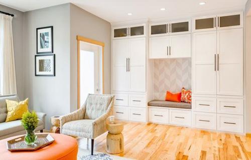 Không gian đẹp với vài thiết kế đơn giản ở phòng khách
