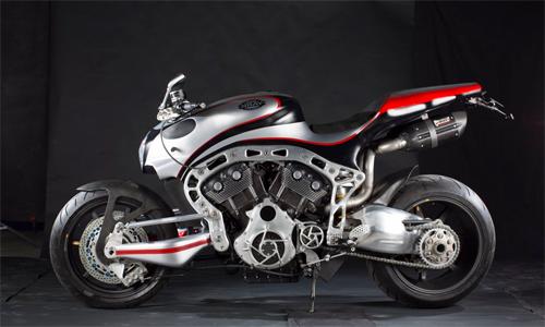 Mẫu siêu môtô sbay omega tự chế được triển lãm tại motor bike expo