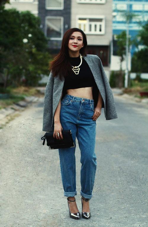 Những mode quần jeans làm say lòng sao việt