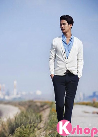 Áo khoác vest mỏng cardigan nam đẹp cá tính