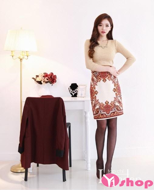 Chân váy đầm ngắn hàn quốc in họa tiết đẹp xu hướng thời trang mới