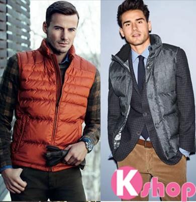 Mix áo khoác gile nam đẹp thời trang lịch lãm quyến rũ