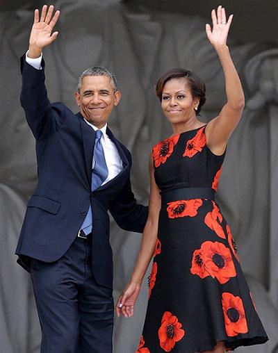 Phu nhân tổng thống mỹ phối đồ với chiếc thắt lưng cực đẹp