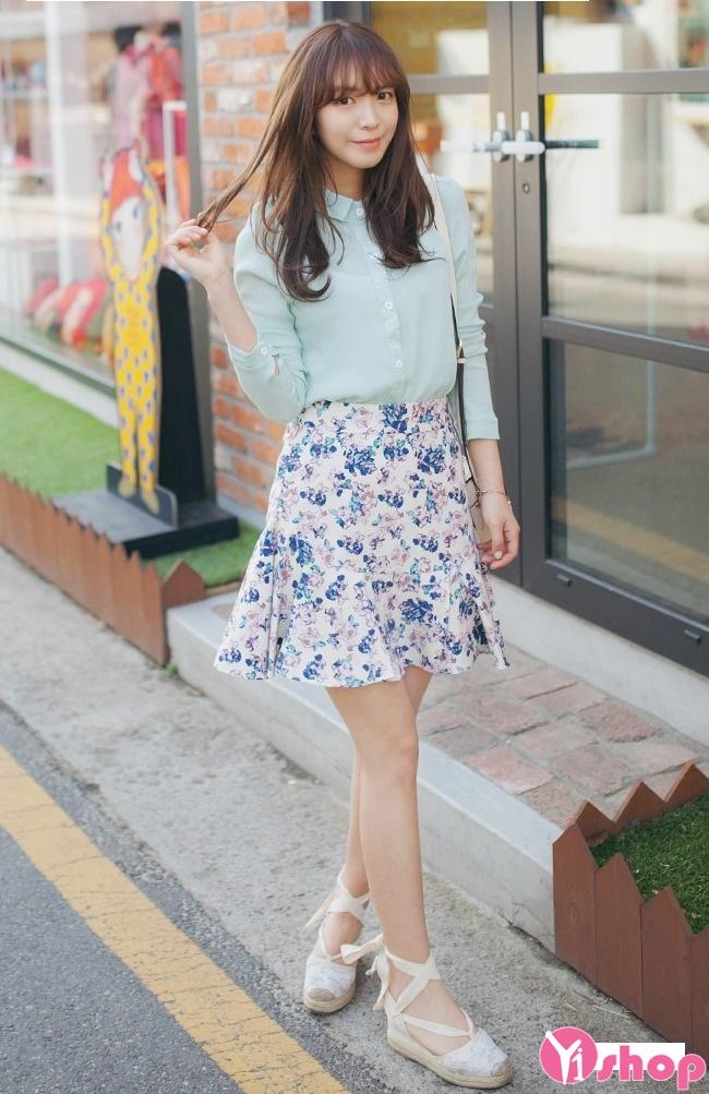 Thật quyến rũ cho các nàng dạo phố với chân váy loe cực đẹp