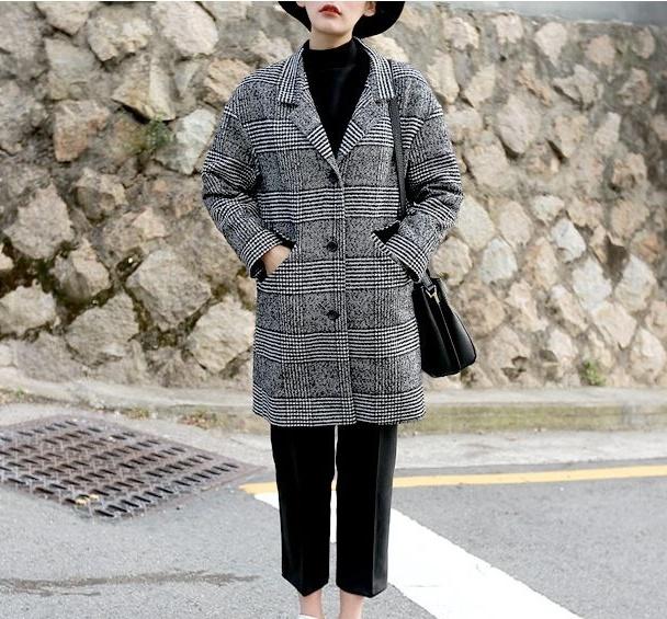 Áo khoác dạ nữ dáng suông đẹp cho nàng công sở thanh lịch
