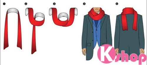 Cách quàng khăn cổ nam đẹp cho các chàng đi chơi