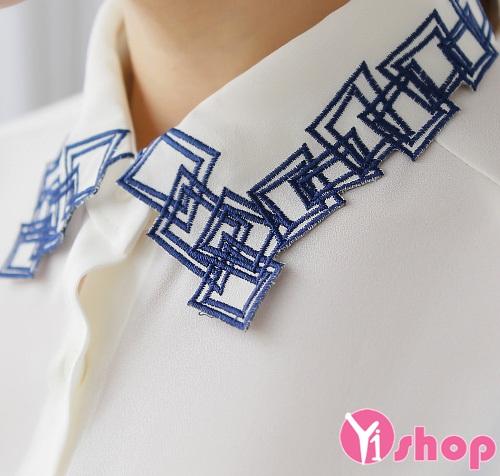 Kiểu áo sơ mi trắng nữ đẹp hàn quốc cho nàng công sở