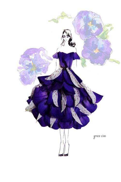 Những bộ váy hoa khiến người xem không thể rời mắt