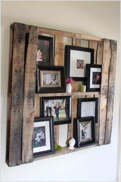 Trang trí tường nhà bằng cách trưng bày nhiều ảnh