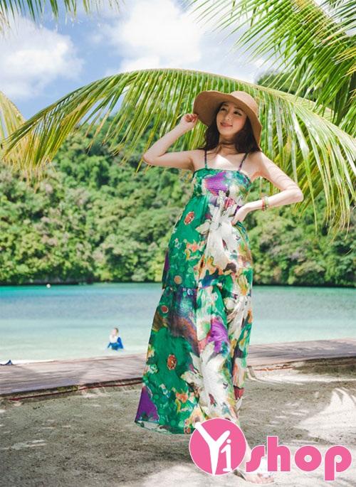 Váy đầm maxi voan hoa dài đẹp xu hướng thời trang mới