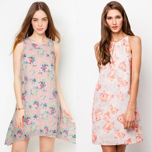 Váy hoa hàn quốc đẹp cho cô nàng công sở duyên dáng cuốn hút