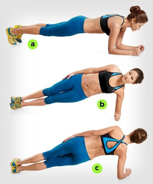 Plank 60 giây 1000 cái gập bụng