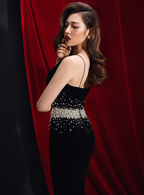 Bí quyết chọn váy để sexy nhất đêm tiệc như á hậu tú anh