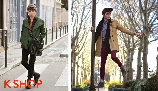 Bst áo khoác nam ấm áp dạo phố không lạnh