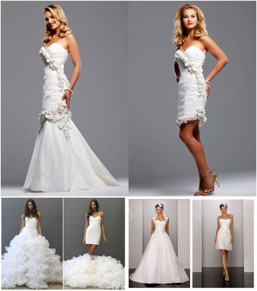 Giúp cô dâu tiết kiệm chi phí với váy cưới 2 trong 1