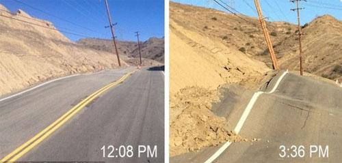 Kỳ lạ con đường trưa bằng phẳng chiều gập ghềnh ở california