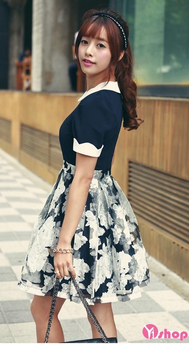 Nàng mập mạp duyên dáng với váy đầm xòe liền thân
