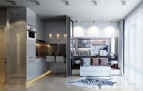 Thiết kế vừa đẹp vừa tiện ích của 4 căn hộ dưới 30 m2