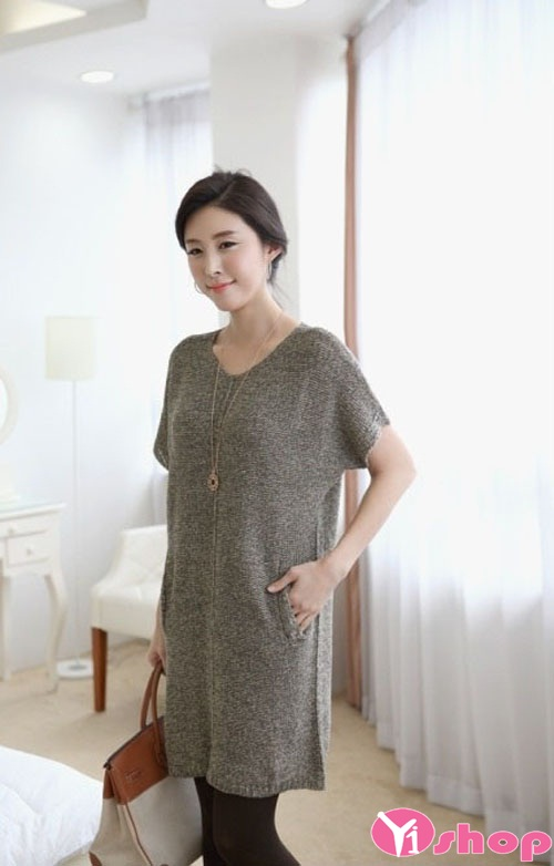 Váy đầm len liền thân mang lại diện mạo trẻ trung cho nàng