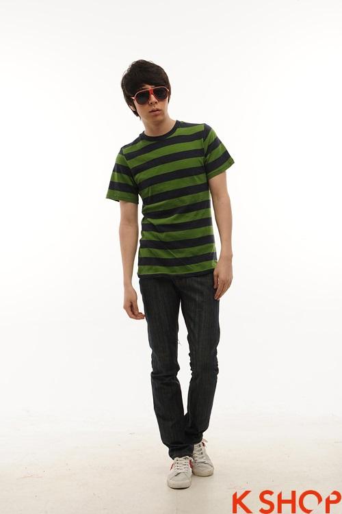 Áo phông nam kiểu trẻ trung năng động dạo phố