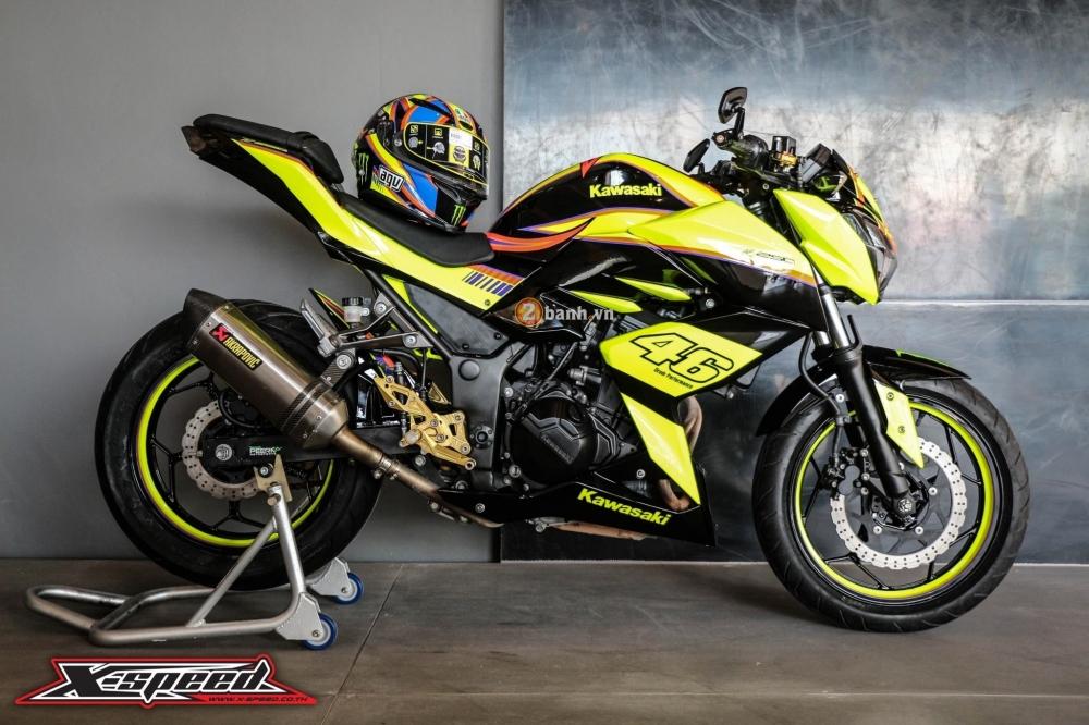 Kawasaki z250 nổi bật trong cánh agv corsa soleluna