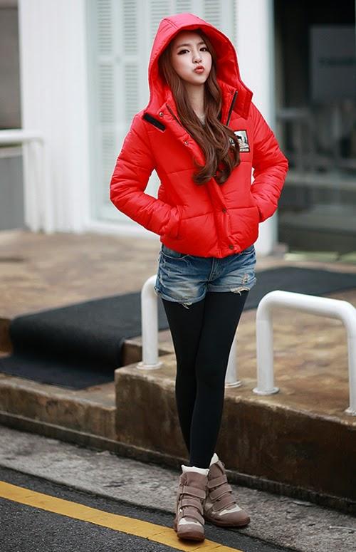 Áo khoác phao nữ dáng ngắn dễ thương cho bạn gái