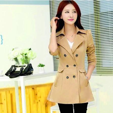 Áo khoác măng tô ngắn duyên dáng cho nàng nơi công sở