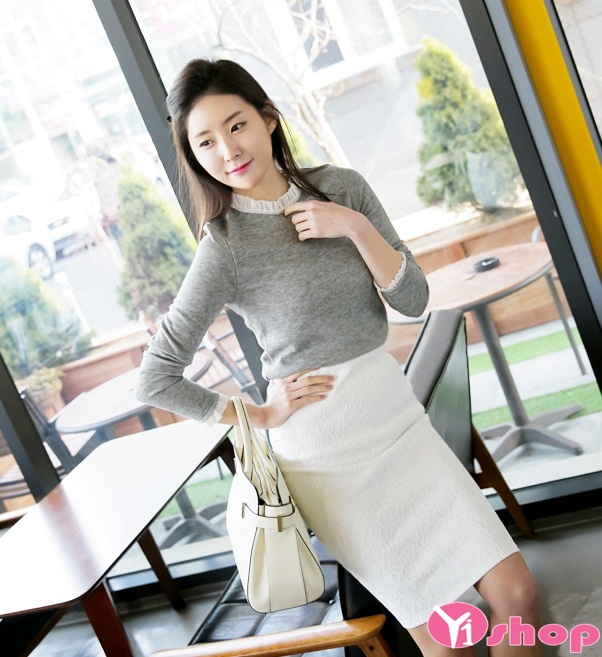 Chân váy đầm bút chì ngắn đẹp cho nàng thanh lịch nơi công sở