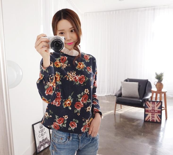 Cho bạn gái nổi bật nơi công sở với áo sơ mi nữ họa tiết hoa