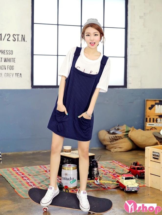Váy yếm công sở Hàn Quốc nhiều bắt mắt bắt trọn ánh nhìn ...