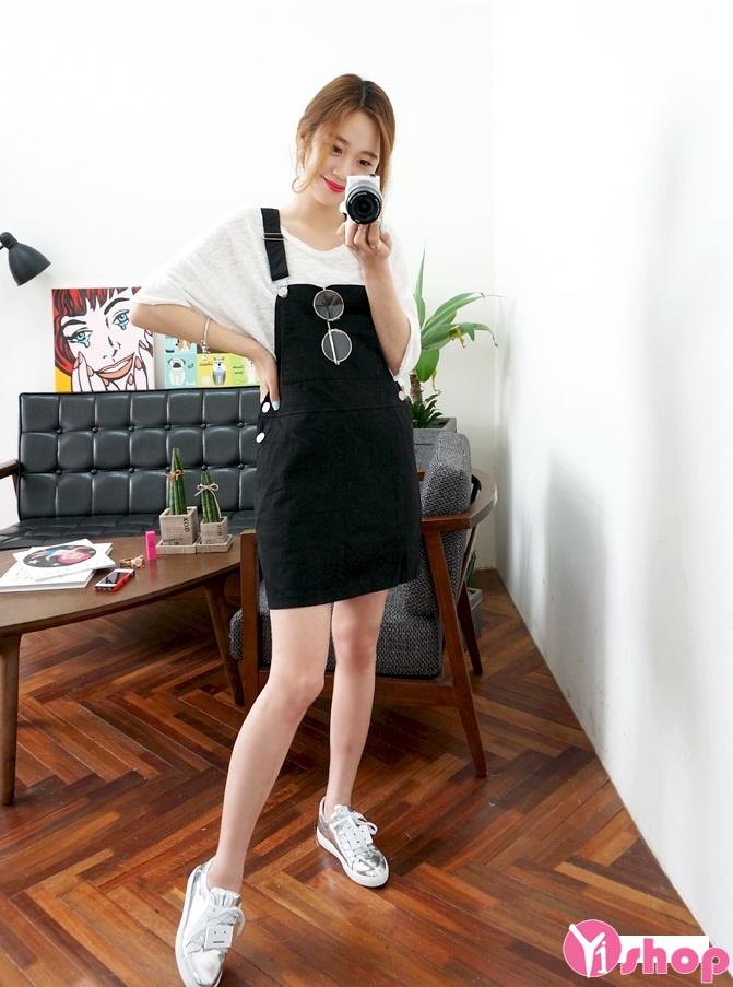 Váy yếm hàn quốc đẹp hè 2017 cho nàng dễ thương xinh xắn