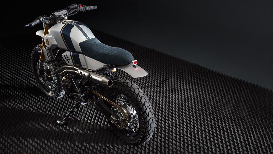 Yamaha xsr700 trong bản độ tracker từ bunker customs cycle đầy ấn tượng