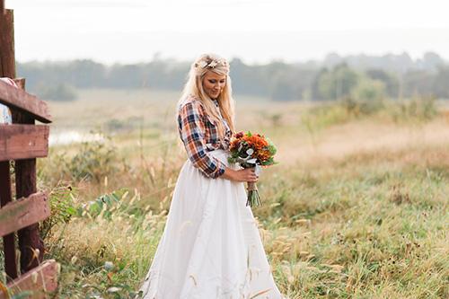 Áo cưới sơ mi - cô dâu nào dám mặc