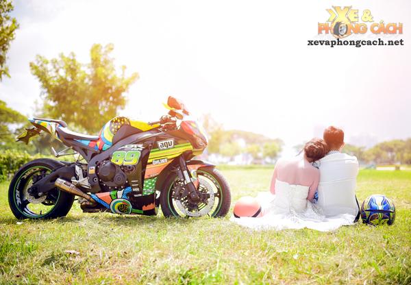 Honda cbr1000rr độ rất chất trong bộ ảnh cưới tuyệt đẹp của biker sài gòn