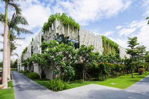 Khu nhà phủ cây xanh mướt đoạt giải công trình của năm