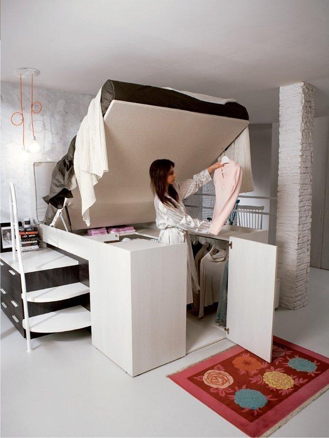 Giường tủ 2-trong-1 giải pháp hoàn hảo cho căn nhà nhỏ