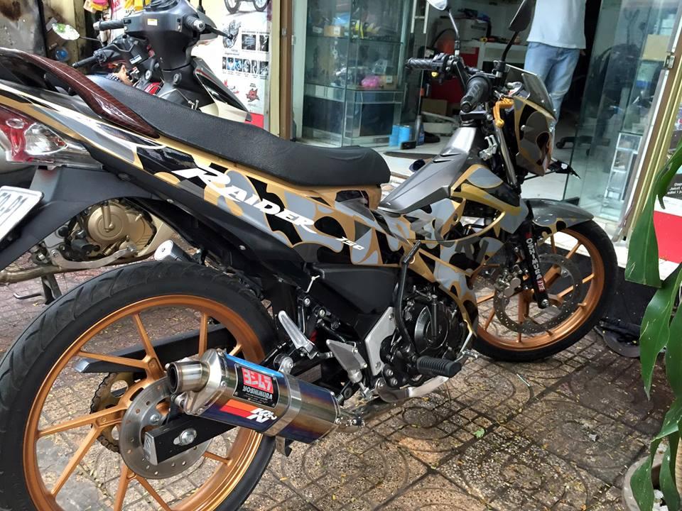 Suzuki raider độ độc đáo theo phong cách camo