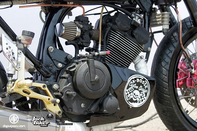 Suzuki satria fu 150 độ phong cách caferace tại indonesia