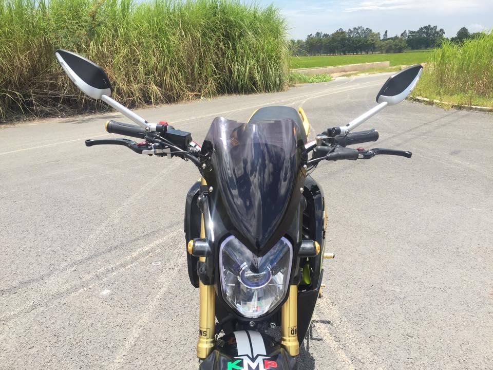 Honda msx 125 độ nổi bật với dàn đồ chơi kiểng