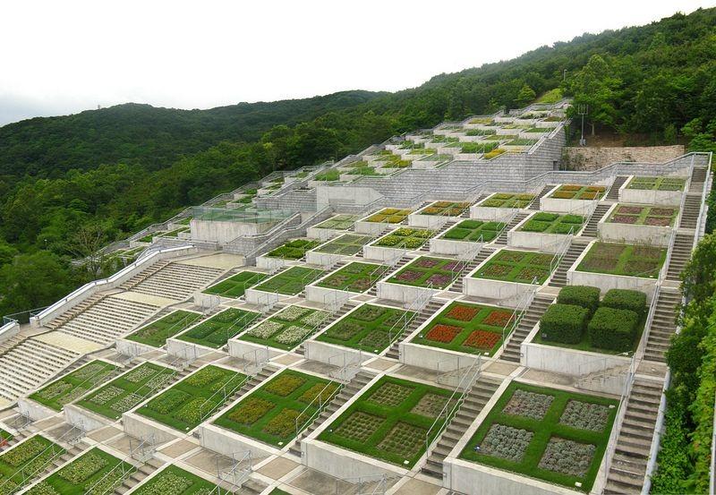 Sững sờ vườn trăm bậc dựa lưng vào núi hướng mặt ra biển