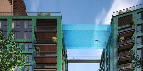 Bể bơi trong suốt lưng trời hớp hồn giữa trung tâm thành phố