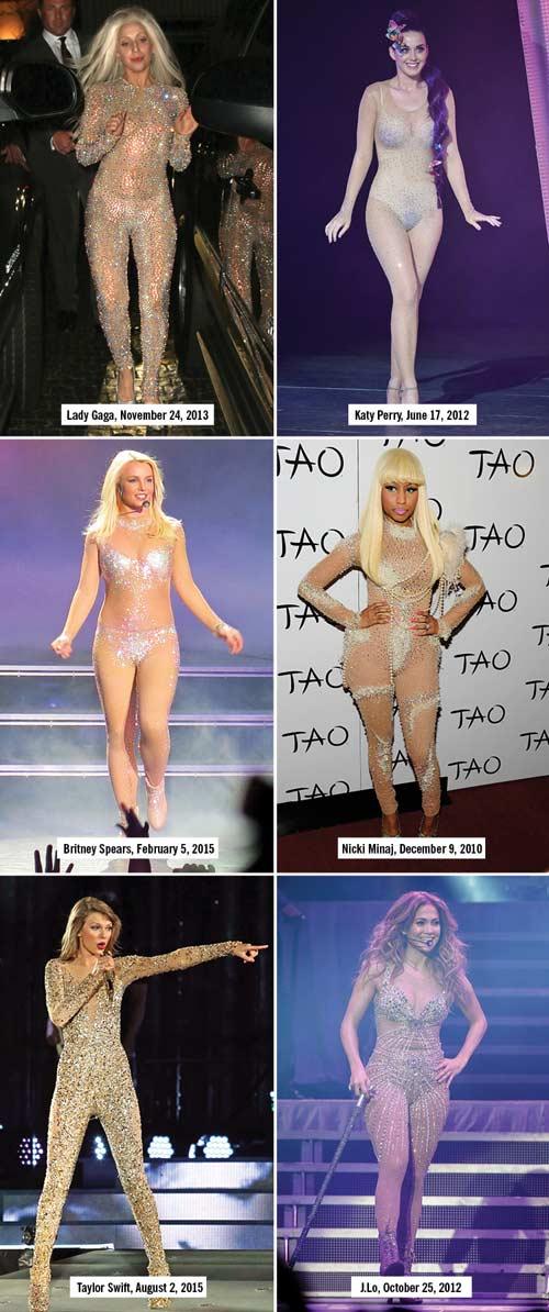 Những kiểu đồ diễn đốt cháy sân khấu của sao nhạc pop