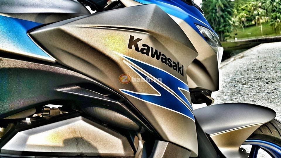 Hình ảnh kawasaki z800 matte grey-blue ocean phối màu tinh tế