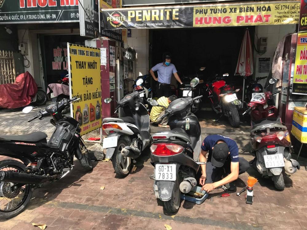 Trung tâm sửa chữa canh chỉnh và bảo dưỡng xe máy tại biên hòa
