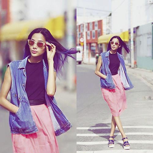 Người đẹp tích cực khoe dáng với đồ jeans