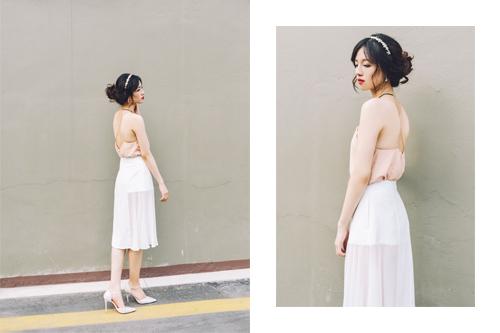 Chọn váy hở lưng để quyến rũ mà không trần tục