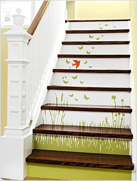 Cách đơn giản làm mới cầu thang