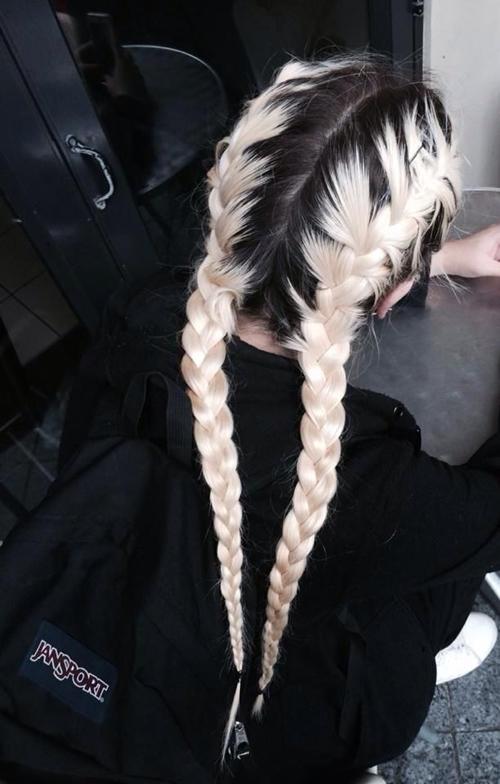 Nổi loạn với 12 cách nhuộm tóc nửa đen nửa trắng