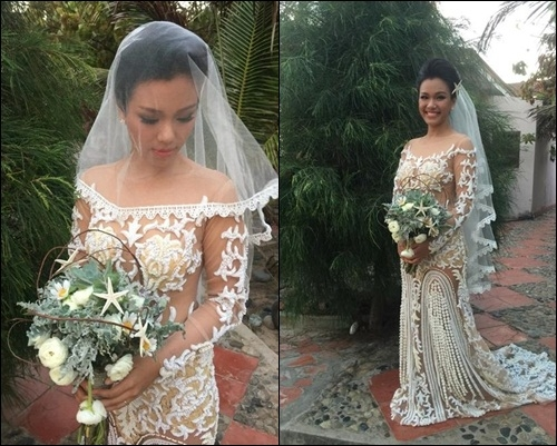 Những mẫu váy cưới mang ý nghĩa đặc biệt của các sao